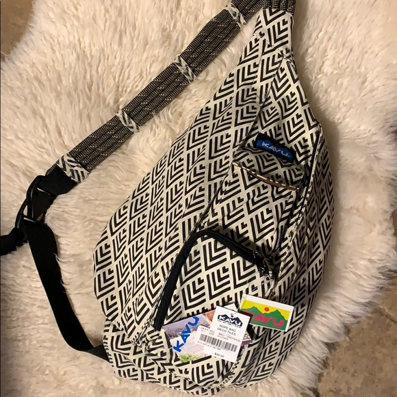 2dc62a3f29 Kavu Rope Bag Black   White